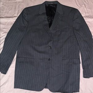Men's chaps grey pinstripe sports coat